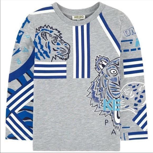 0416cc6a Kenzo Shirts & Tops | Kids Tiger Friends Long Tshirt | Poshmark
